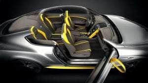 a car with carbon fibre parts