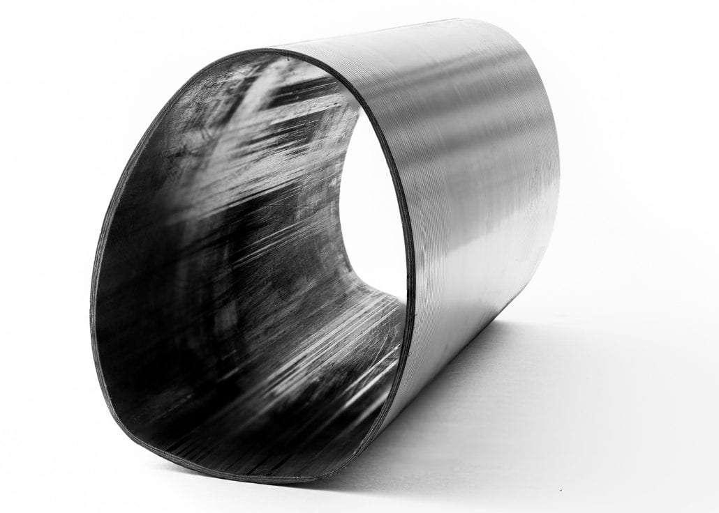 an oval shaped carbon fibre composite tube