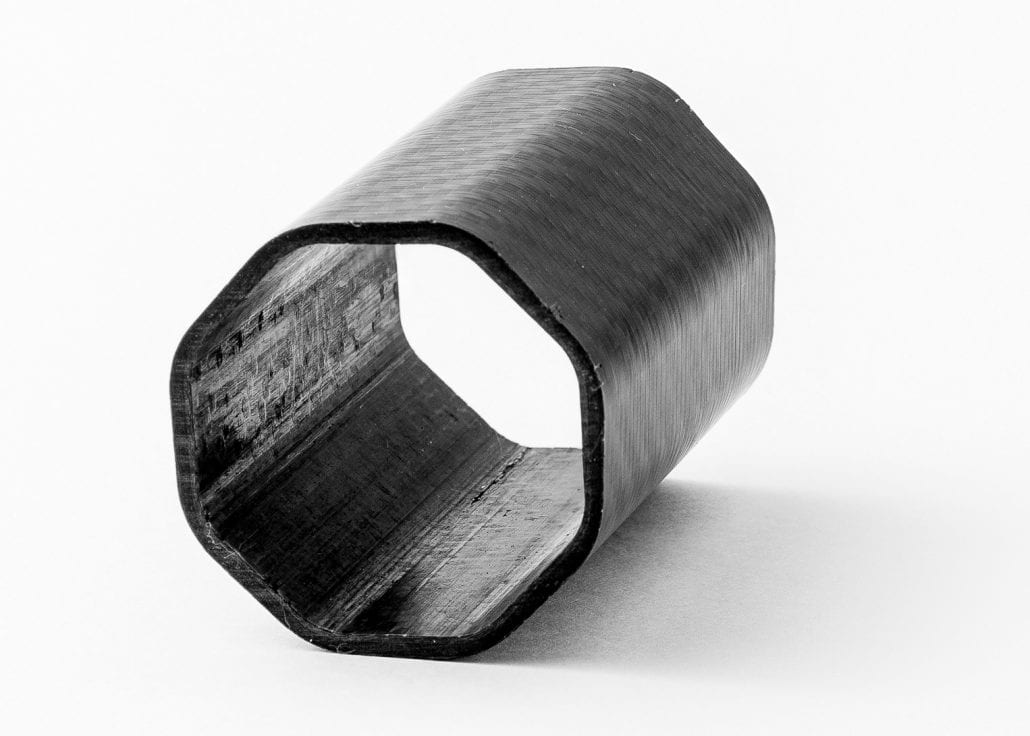 a hexagonal carbon fibre tube design