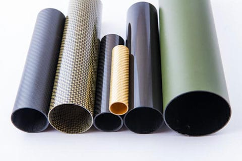 a selection of coloured composite tubes
